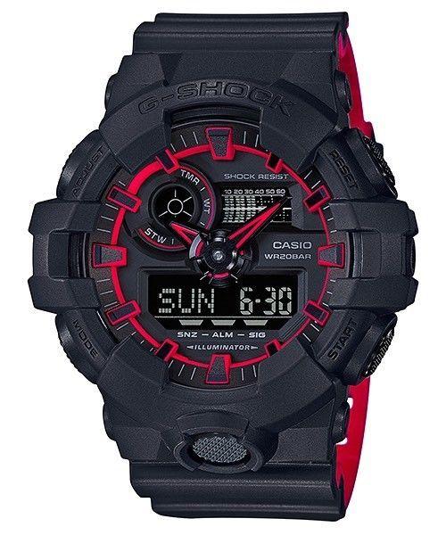 BRAND NEW CASIO G-SHOCK GA700SE-1A4 ILLUMINATOR BLACK-RED ANA/DIGI MEN WATCH NWT http://ift.tt/2EMjS75