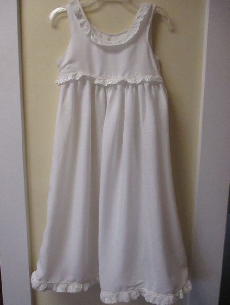 Beautiful Girls Handmade White Petticoat/Nightgown Size 8/10 by BluberryHillBoutique on Etsy