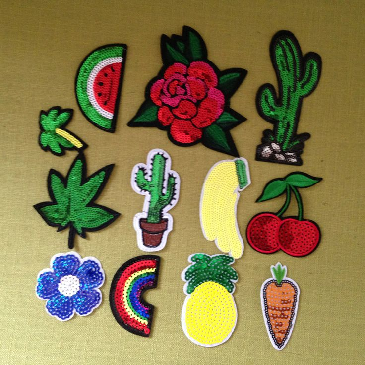 12pcs parches Mix Iron On Sequin Patches Rainbow Cactus Flower Glitter Embroidery Jean Jacket Patch For Clothing Dress Appliques on Aliexpress.com | Alibaba Group