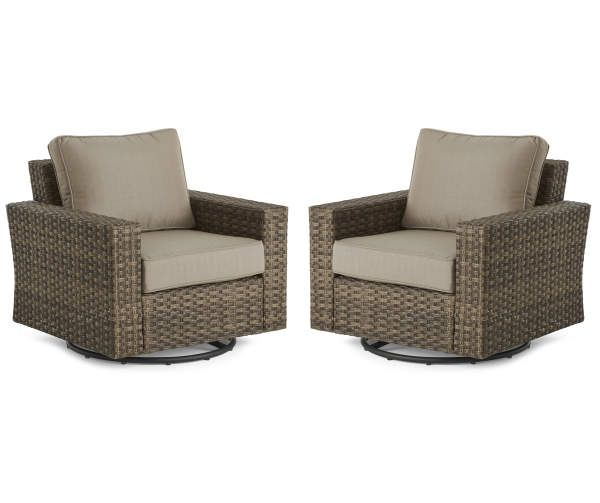 Broyhill Eagle Brooke All Weather Wicker Cushioned Patio Swivel Gliders 2 Pack Big Lots In 2020 Swivel Glider Outdoor Rocking Chairs Patio Seating
