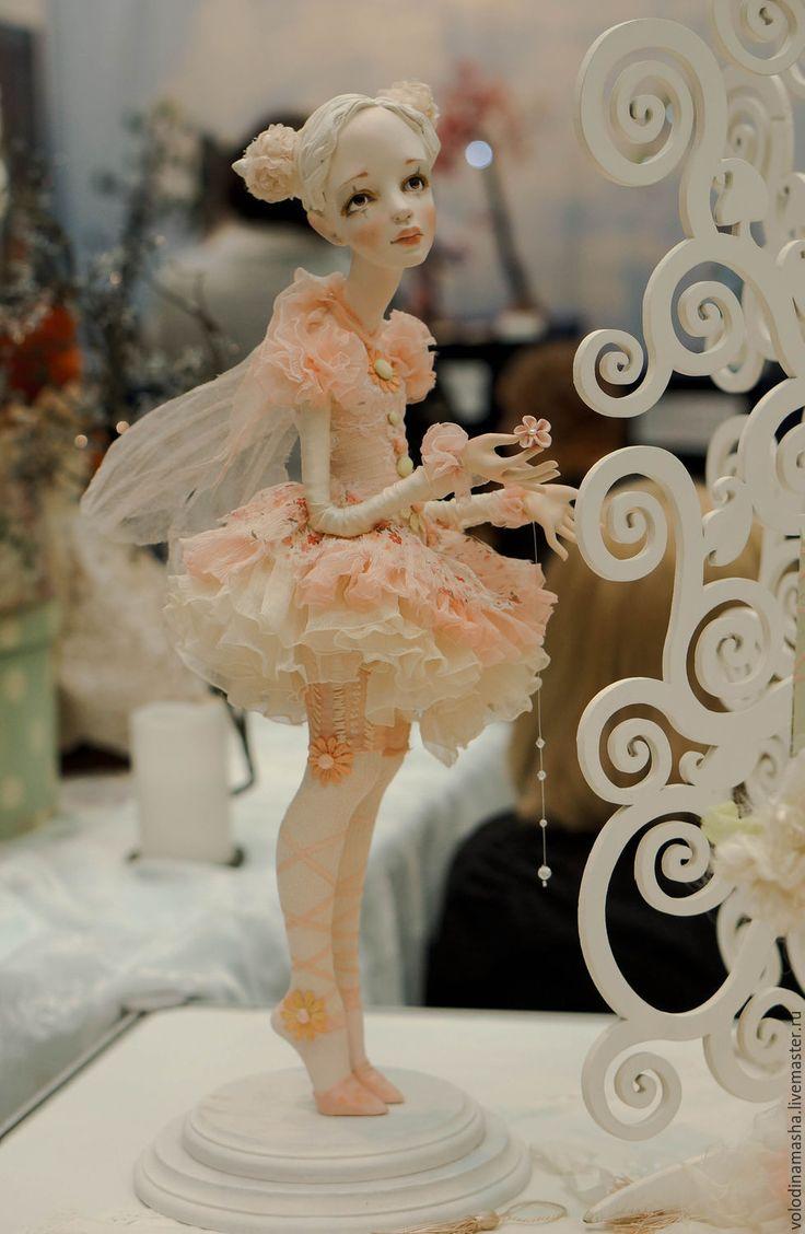 """Купить Кукла """"Розовая Фея"""" - бледно-розовый, розовый, коралловый, нежно-розовый, нежность, кукла"""