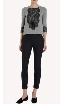 Zhor & Nema Lace Bib Sweater
