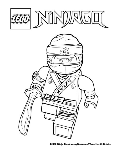 Ninjago Green Ninja Lloyd In Kimono Costume Coloring Page ...