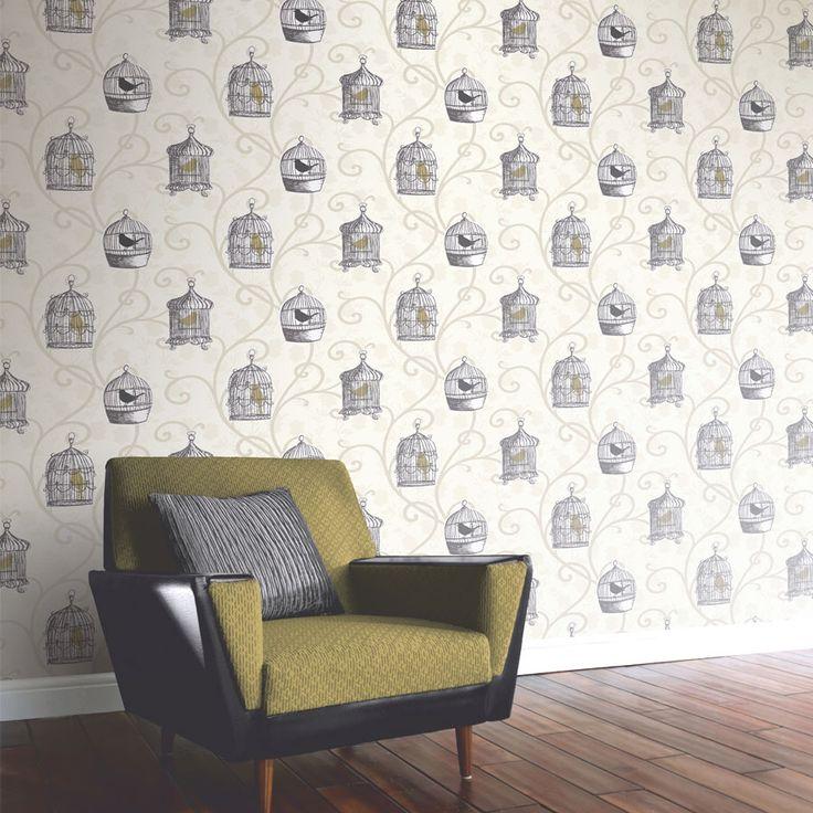 ArtHouse Kuş Kafesli Duvar Kağıdı 417401 - Koçtaş