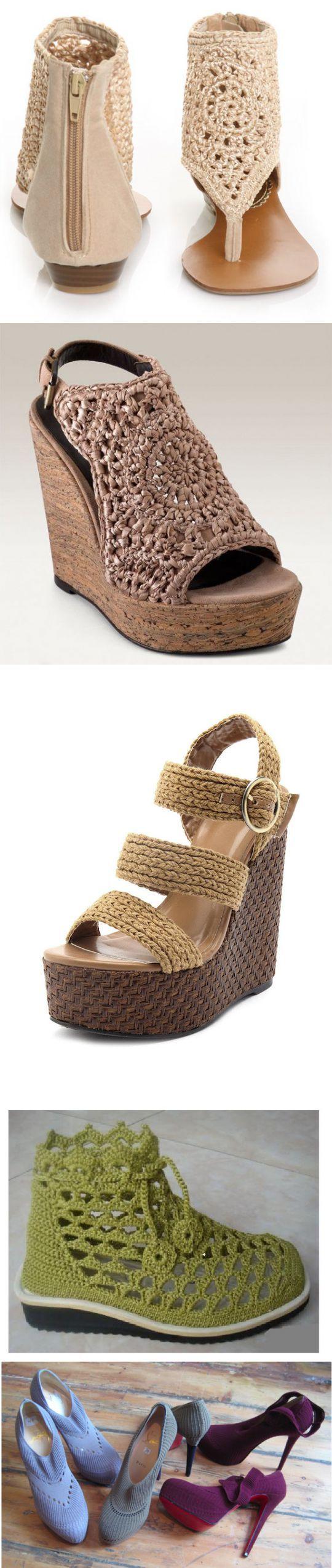 Вязаная обувь (фото). | Обувь своими руками | Постила