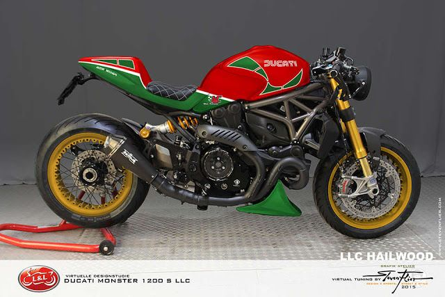 Ducati Monster 1200 S LLC Cafe Racer by GRAFIK ATELIER STEVEN FLIER #motorcyclesdesign #diseñodemotos | caferacerpasion.com