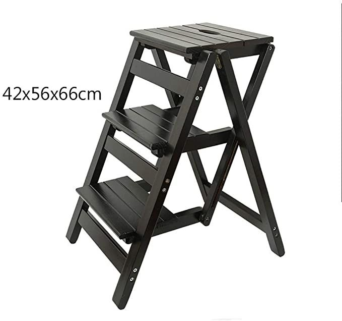 Kitchen Step Stools For Adults Multi Purpose Stepladders 3 Step Stairs Step Stool Indoor Climbing Small L In 2020 Kitchen Step Stool Wood Step Stool Folding Step Stool