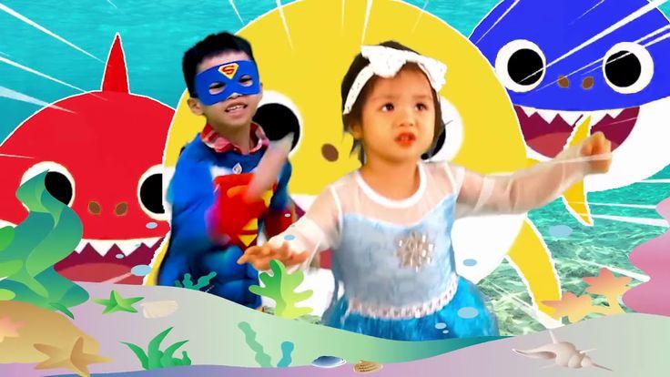 Baby Shark DanceFrozen Elsa and Super Kids Dance Animal ...