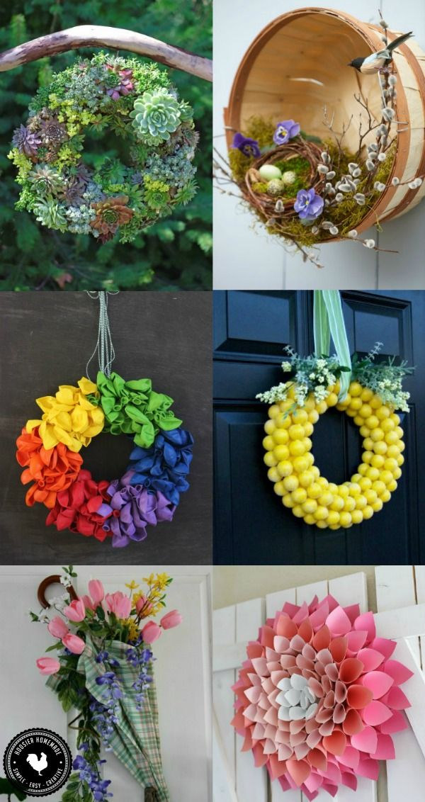 brighten your home with one of these easy to make spring wreath ideas spring decorating - Wreath Ideas