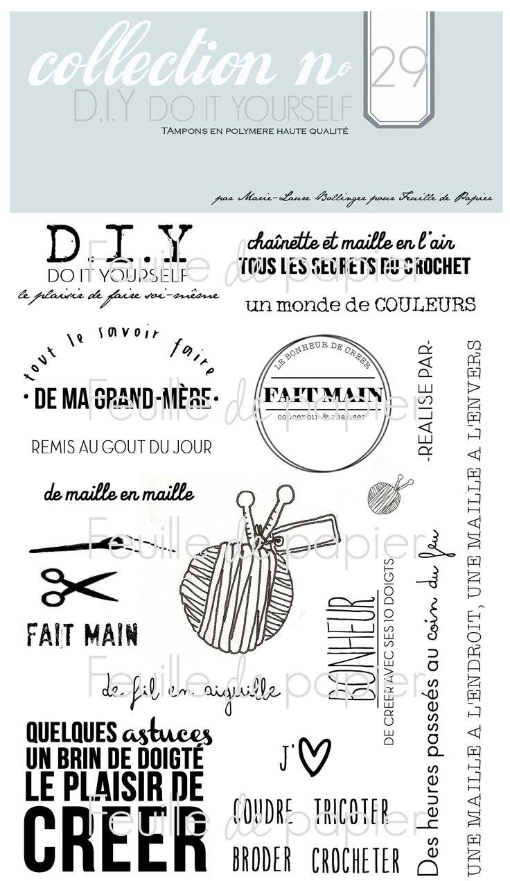 MATERIEL > Tampons > Marie-Laure Bollinger pour Feuille de papier > Collections N° 29 D.I.Y. Do it yourself - Feuille de papier - Kits en ligne