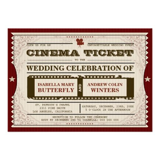 Gut gemocht 49 best Movie themed wedding invitations images on Pinterest  MU26