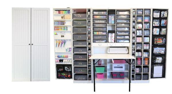 The WorkBox 2.0 - Schrank und Arbeitsplatz für Nähen Basteln Home Office