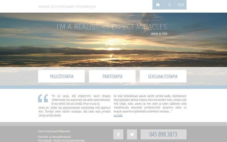 Käyntikorttisivustolla saat palvelusi nettiin näppärästi. Yhdistä ne myös sosiaalisen median kanaviin. www.soudunsaari.fi