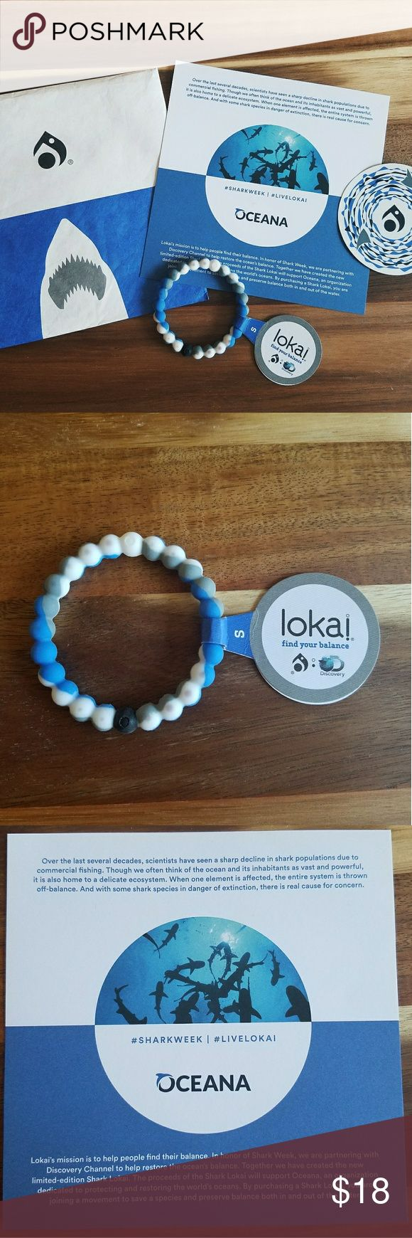 Live Lokai Bracelet--Shark Week Edition🦈 •Brand new | bought but was too small for me •Size small •Limited Edition no longer sold on the Lokai website •help support the balance of the ocean •proceeds help benefit Oceanas fight against shark finning  •help save a species 🦈🦈🦈 Lokai Jewelry Bracelets