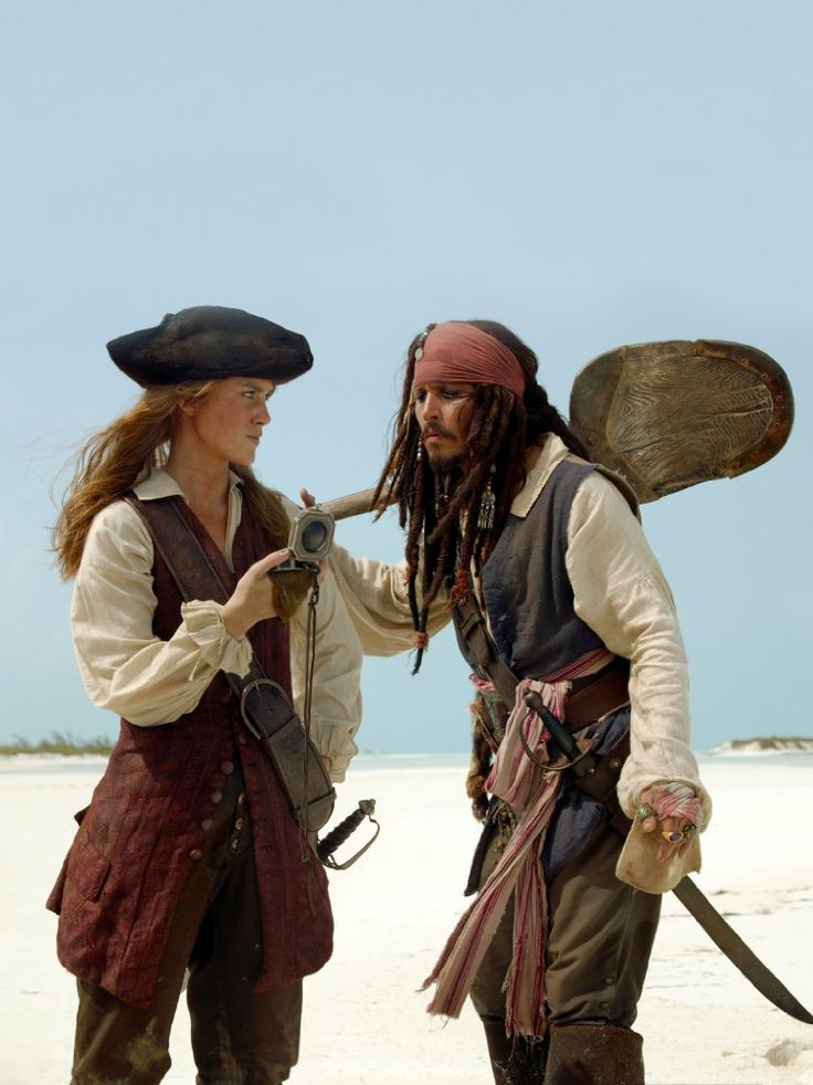 Johnny Depp and Keira Knightley in Pirates of the Caribbean: