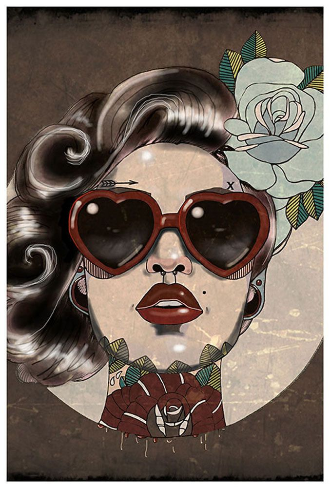 Purple Leopard Boutique - Glam by Amy Dowell Fine Art Print Rockabilly Pin Up Girl, $24.00 (http://www.purpleleopardboutique.com/glam-by-amy-dowell-fine-art-print-rockabilly-pin-up-girl/)