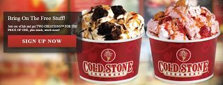 Hi Everyone: Cold Stone BOGO