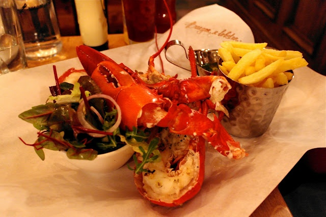 Burger & Lobster, Mayfair. Two options, burger or lobster. Both £20. One of my favourite places!