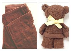 Have you ever heard of Oshibori Art? This is the art of folding towels into animals, figures and celebs. Here is the tutorial how to make towel teddy bear.