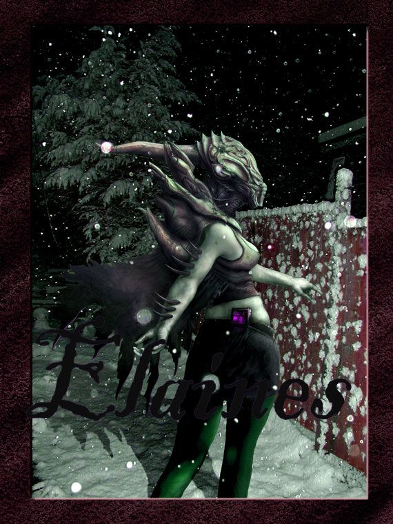 Digital Art CHRISTMAS Alien Gothic Monster Eerie Dark Fantasy SF Steam Punk Victorian Card, Collage, Scrapbooking, Whimsy, Ephemera