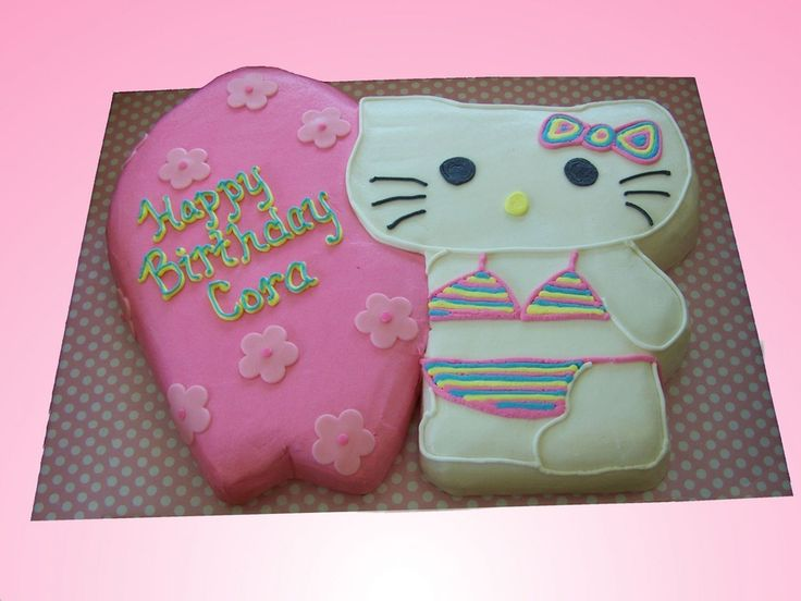 Birthday Cake Hello Kitty D