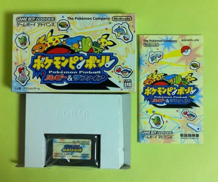 Pokemon Pinball Ruby amp; Sapphire GameBoy Advance GBA Japan USED