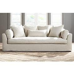 The Chateau Belgian Linen Slipcover Sofa  Online Store Only Go To: purelynaturalorganicscompany.com  15%OFF Discount Code: CYBERMONDAYNOW Good Through: 10/06/2017