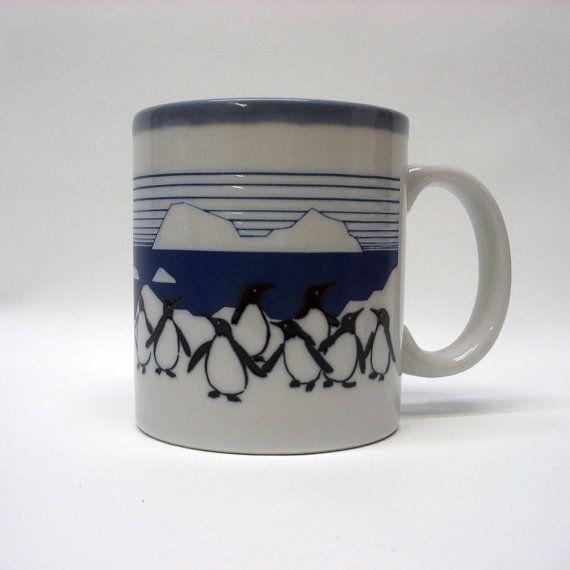 Penguin mug by jawaddel on Etsy, $12.00