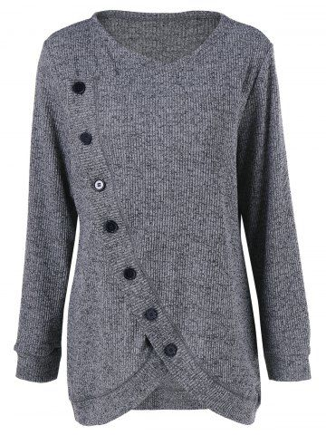 GET $50 NOW | Join RoseGal: Get YOUR $50 NOW!http://www.rosegal.com/plus-size-sweaters-cardigans/plus-size-button-up-overlap-975785.html?seid=6833286rg975785