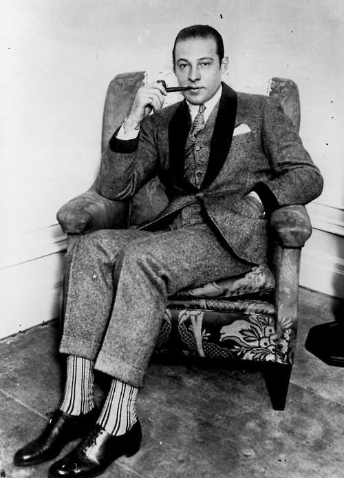 rudolph valentino [shortly before being devoured by men's hosiery]