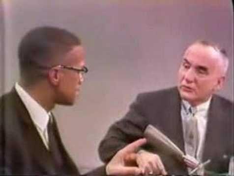 "Malcolm X: ""My father was killed by the Ku Klux Klan."""