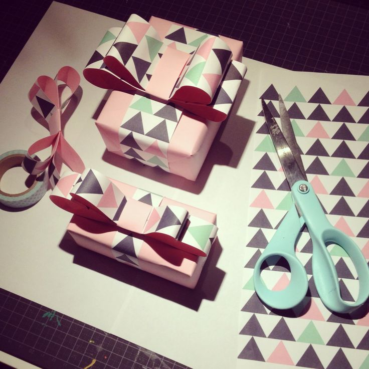 Gift wrapping with prints from kreativa Karin