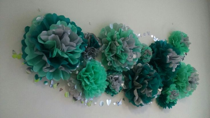 Pompones en tonos verdes - Belore Crafts