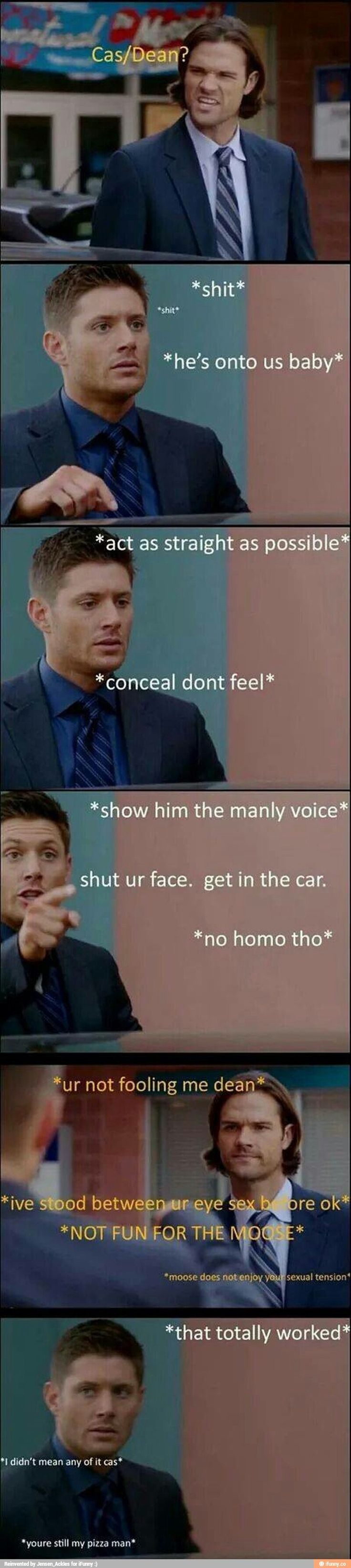 """I especially liked it when Sam started naming ships with him and Cas. """"Samstiel"""" Dean liked that even less!!"""