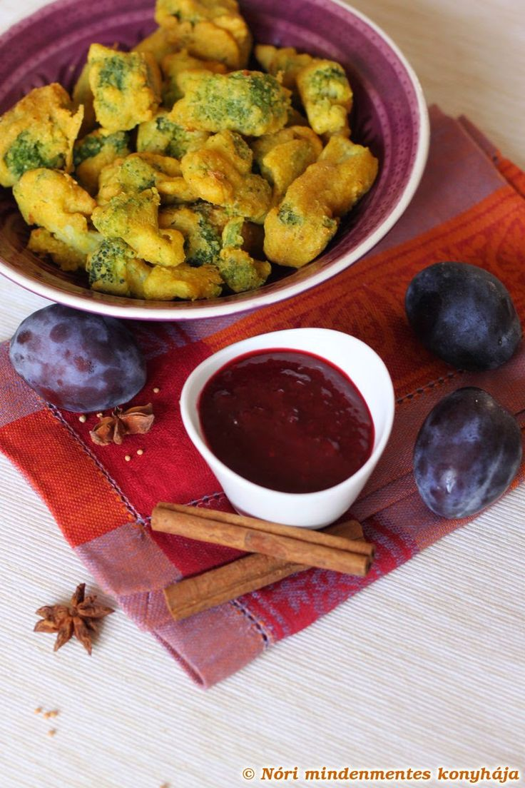 Nóri mindenmentes konyhája: Brokkoli pakora szilva csatnival - avagy hogyan bundázzunk egyszerűen, tojás- és gluténmentesen
