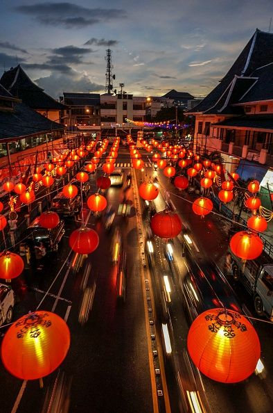Thousands of lanterns adorn the 'China Town' area during Chinese Lunar New Year…