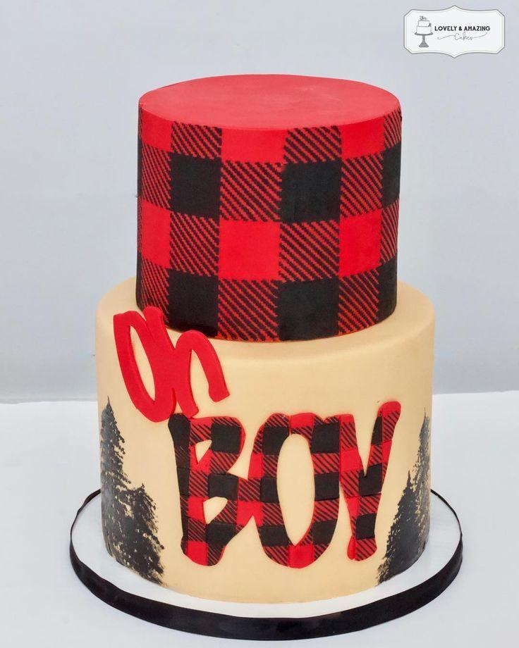 Buffalo Plaid Baby Shower Cake Lovely Amazing Cakes Buffalo Plaid Baby Shower Plaid Baby Shower Lumberjack Baby Shower Cake