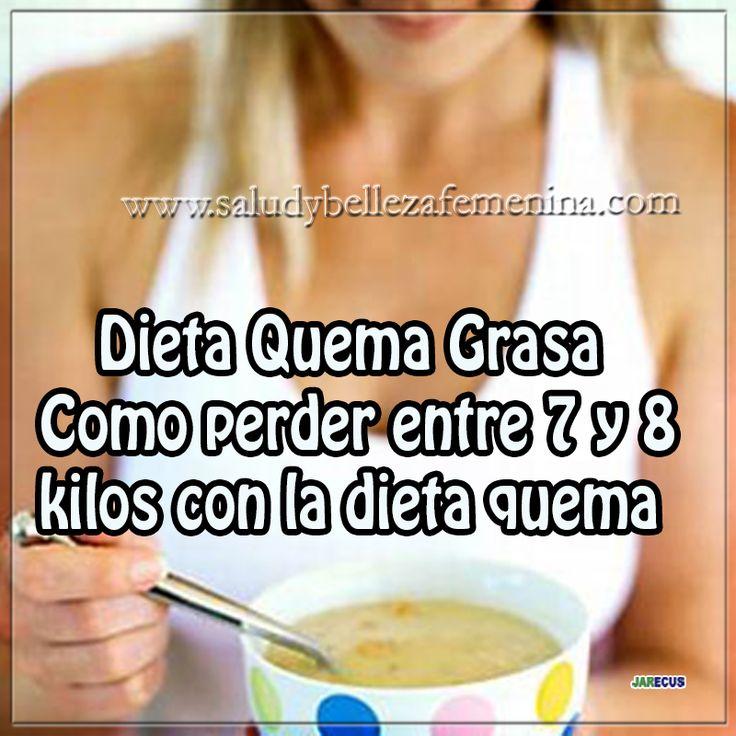 Dieta Quema Grasa   Como perder entre 7 y 8 kilos con la dieta quema grasa
