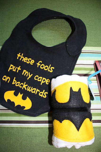 Batman cap/bib- @Kaitlyn Mattson Mattson Mattson Mattson Mattson Reed, one day, wayyyyy into the future when you have kids, they need this.