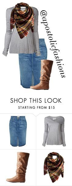 """""""Apostolic Fashions #1692"""" by apostolicfashions ❤ liked on Polyvore featuring Current/Elliott, Greg Lauren, Charlotte Russe and Peach Couture"""