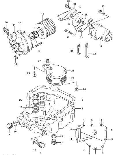 Part Suzuki Bandit 400 (GSF400) | skema saring oli | gsf
