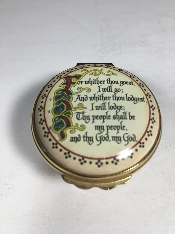 Halcyon Days Enamel Box - Ruth 1:16