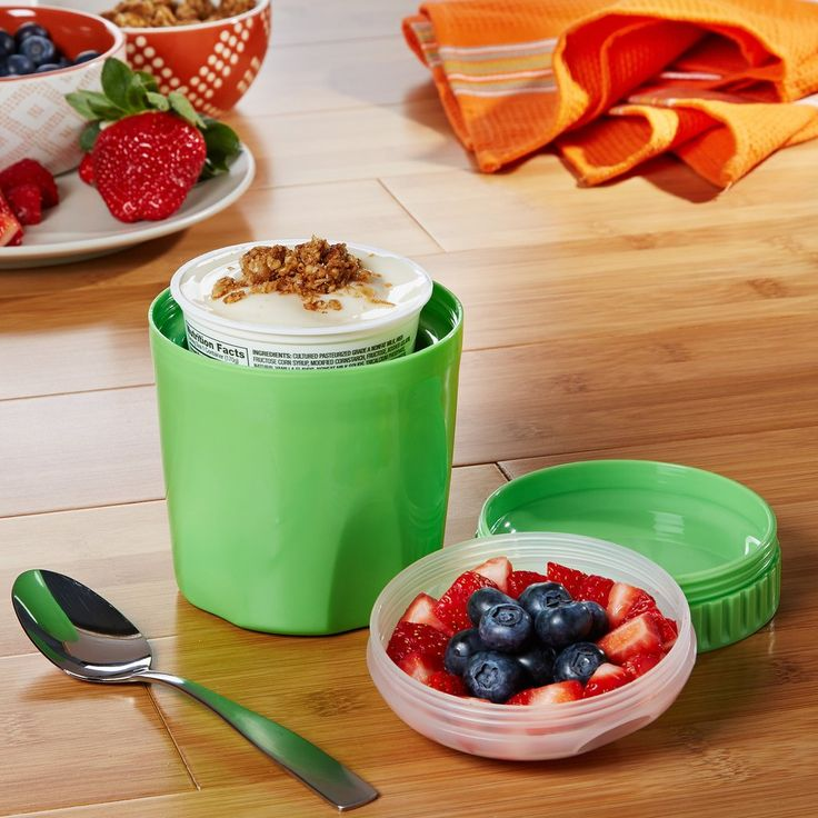Chilled Yogurt & Portioned Snack Container