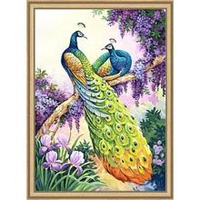 Heaven and Earth Designs Peacocks Perch  Counted Cross-Stitch Chart