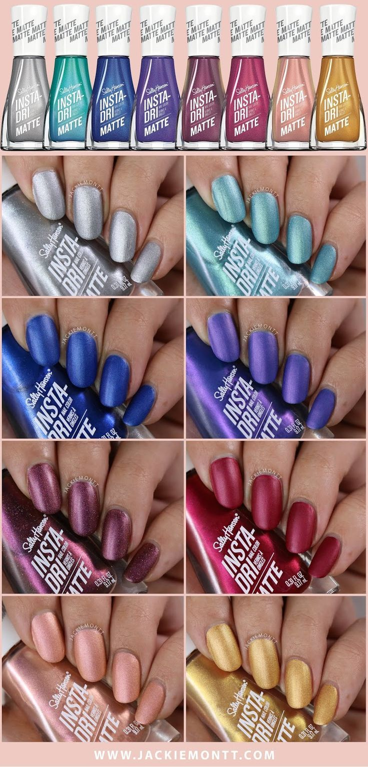 Sally Hansen Insta-Dri Matte Collection Swatches & Review | My Nail ...