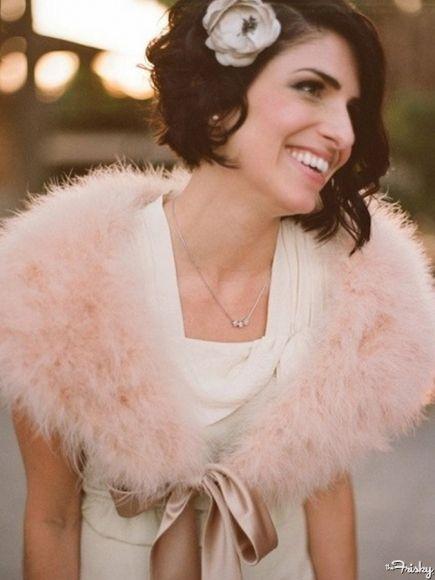 Bridal Hair: Short And Wavy   #Weddings