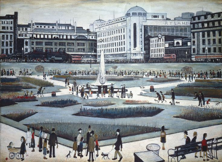 3. Piccadilly Gardens, 1954. Manchester Art Gallery