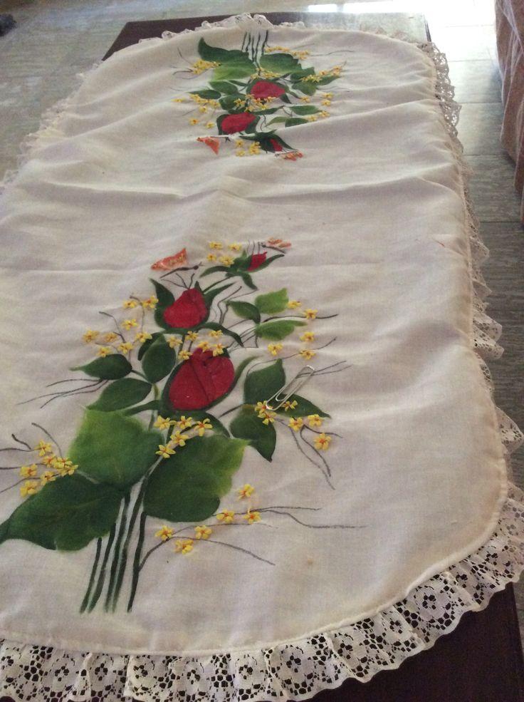 395 best pintura tela manteles caminos mesa - Manteles para mesa ...