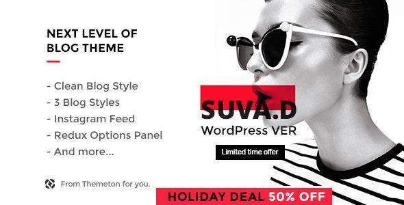 SUVAD v1.1  Personal Blog WP Theme  Blogger Template