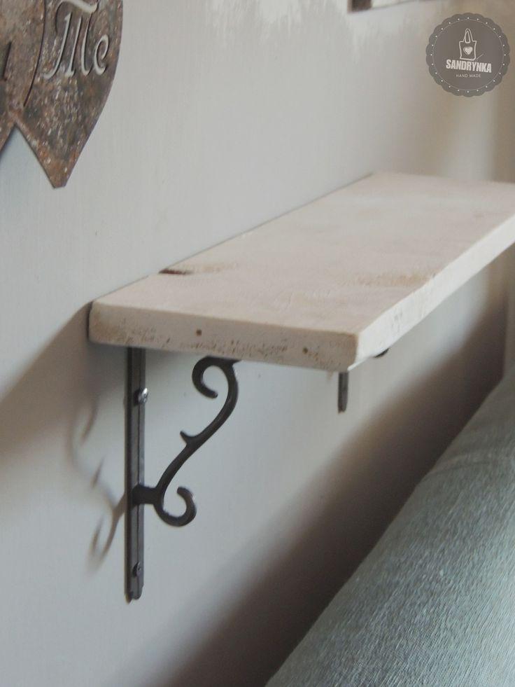Wspornik półki cierń, rustykalne uchwyty, półka, DIY, retro, drewno, metal, żeliwo, stary styl.